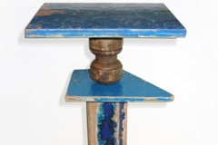 Small Blue Driftwood Table